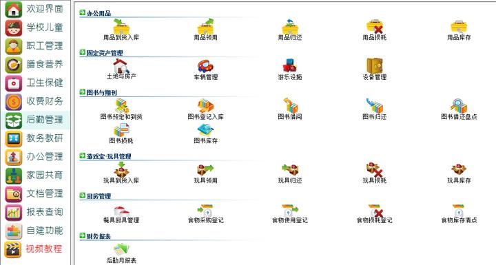 智慧树幼儿园管理软件系统(全功能版)