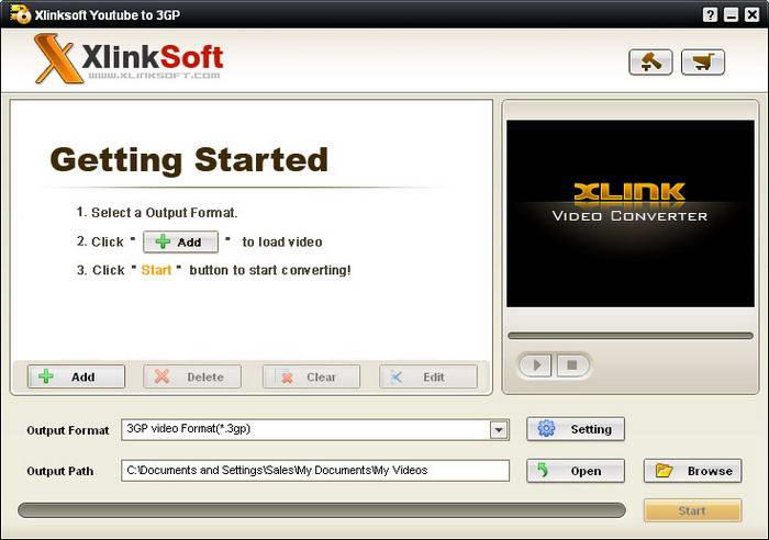Xlinksoft Youtube To 3GP Converter