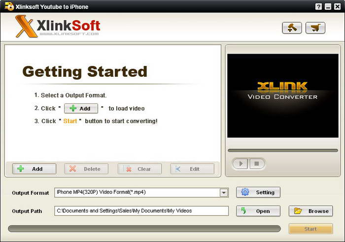 Xlinksoft Youtube To iPhone video Converter