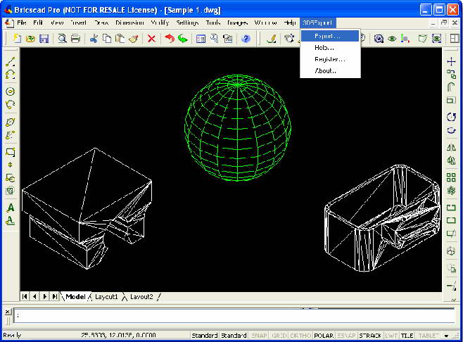 3DS Export for Bricscad