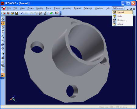 SKP Import for IRONCAD