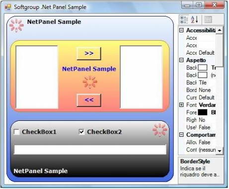 Softgroup .Net Advanced Panel