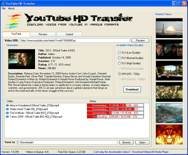 YouTubeHDTransfer