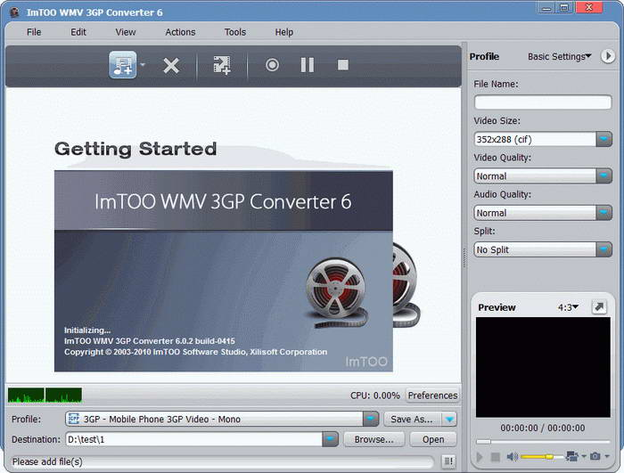 ImTOO WMV 3GP Converter