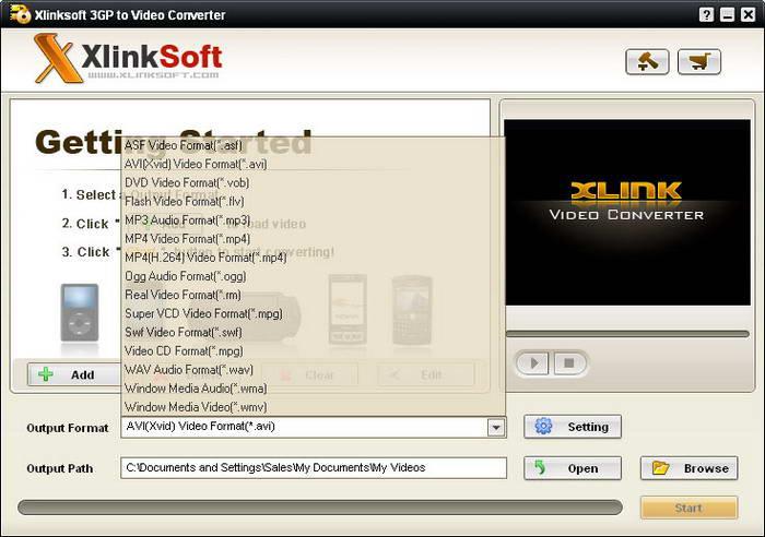 Xlinksoft 3GP to Video Converter