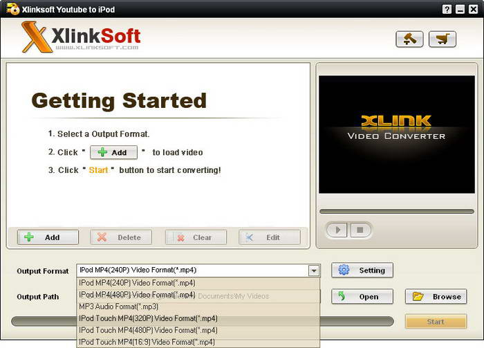Xlinksoft Youtube To iPod Video Converter