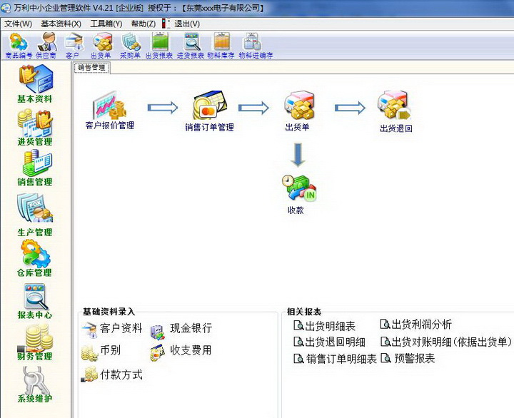 万利中小企业管理软件(企业版)