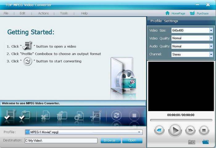 TOP MPEG Video Converter