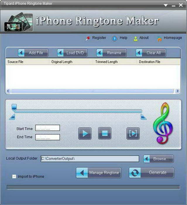 Tipard iPhone 4G Ringtone Maker