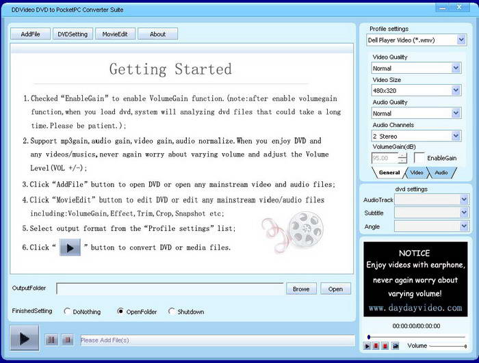 DDVideo DVD to Pocket PC Converter Suite