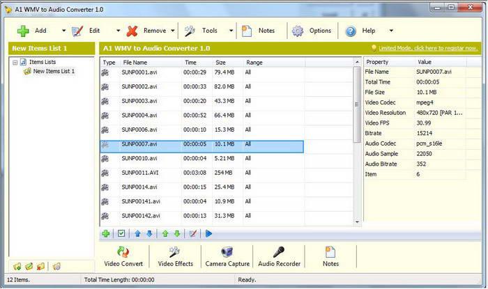 A1 WMV to Audio Converter