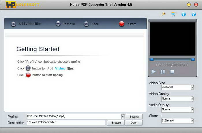 Holeesoft PSP Converter