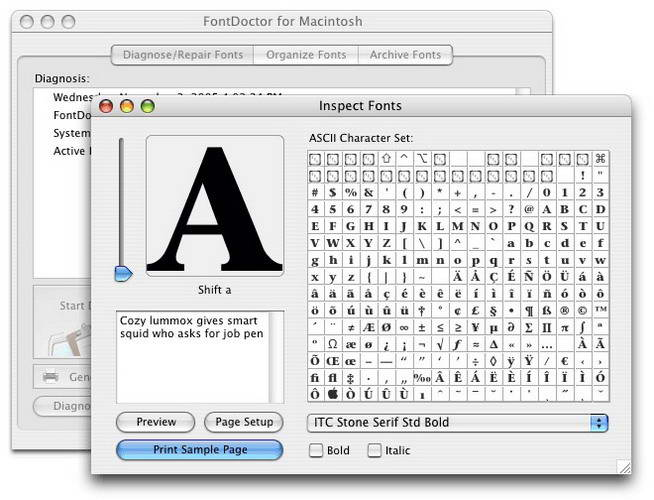 FontDoctor  For mac