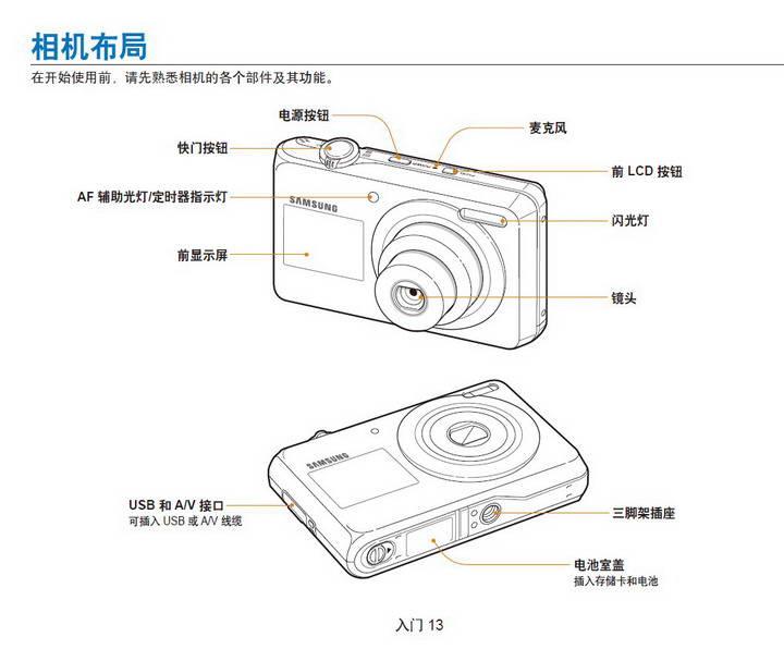 三星PL100数码相机使用说明书