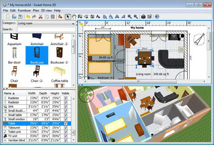 Sweet Home 3D For Linux(32bit)