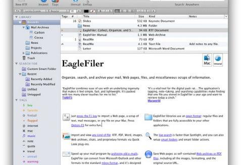 EagleFiler For Mac