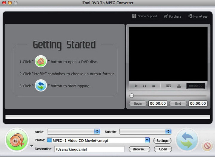 iTool DVD to MPEG Converter for MAC