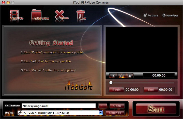iTool PSP Video Converter for MAC