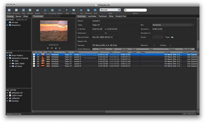 CatDV Standard  For Mac