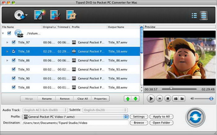 Tipard DVD to Pocket PC Converter for Mac