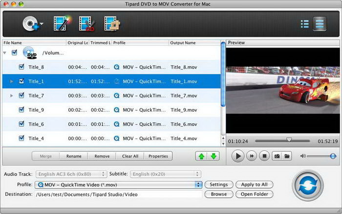 Tipard MOV Converter for Mac