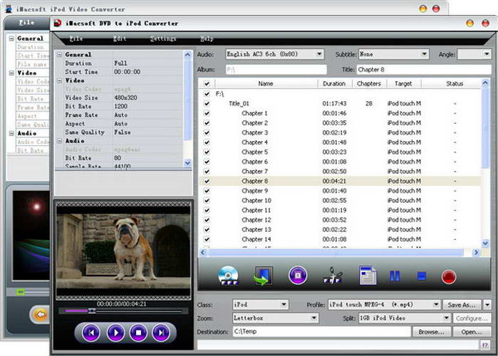 iMacsoft DVD to iPod Suite For Mac