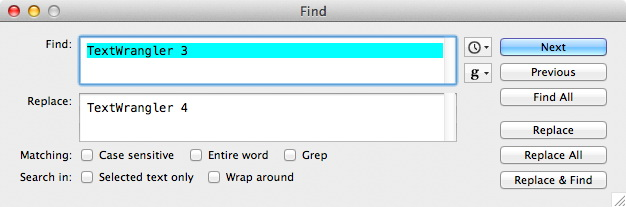 TextWrangler For Mac