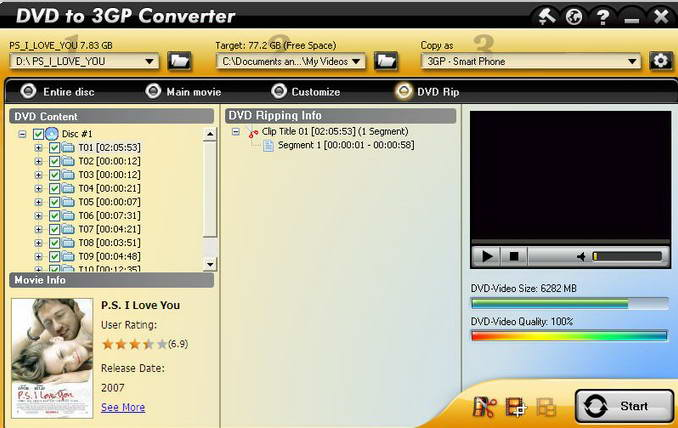 Aviosoft DVD to 3GP Converter