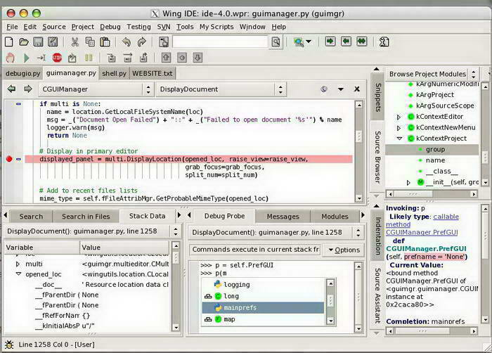 Wing IDE Personal for Linux (32-bit)