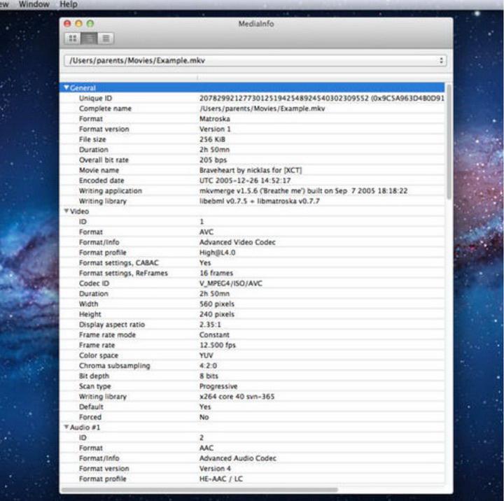 MediaInfo For mac