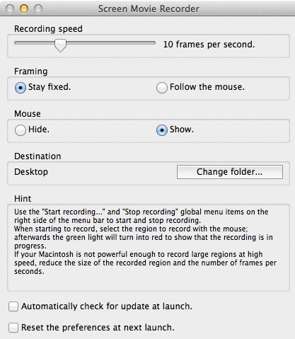 Screen Movie Recorder For Mac