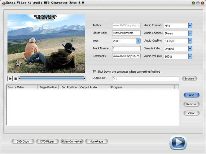 Extra Video to Audio MP3 Converter Free