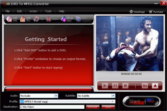 CXBSoft DVD To MPEG Converter
