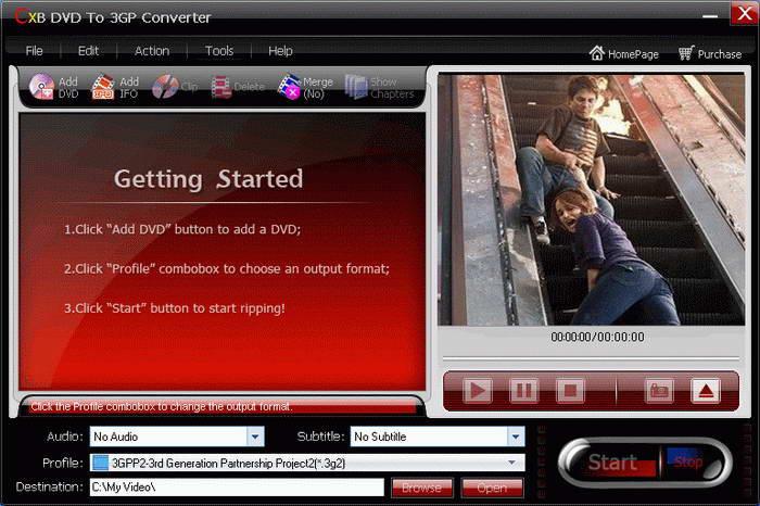 CXBSoft DVD To 3GP Converter