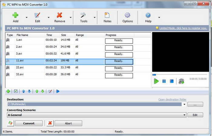 PC MP4 to MOV Converter