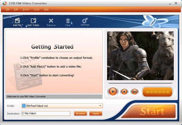 CXBSoft RM Video Converter