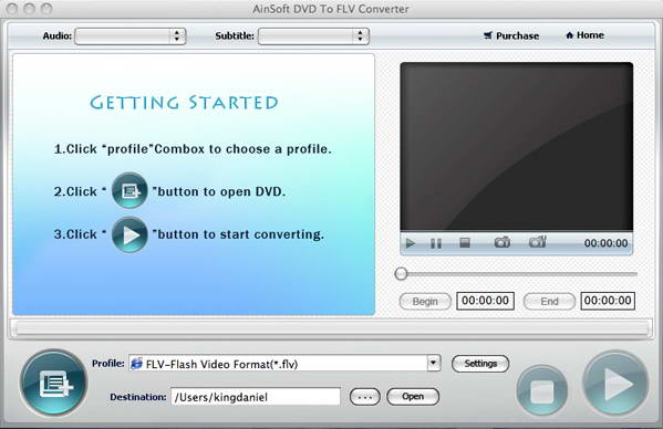 Ainsoft DVD to FLV Converter for MAC