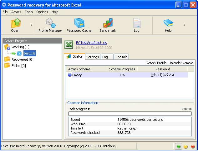 Intelore Excel Password Recovery