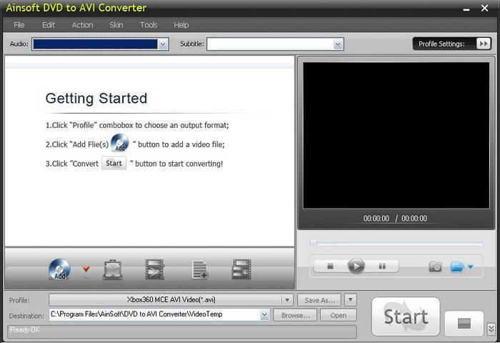 Ainsoft DVD to AVI Converter