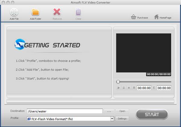 AinSoft FLV Video Converter for Mac