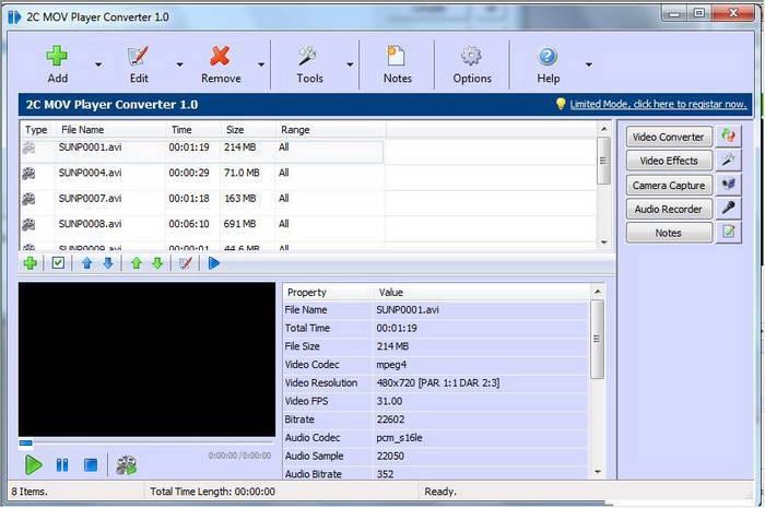 2C MOV Player Converter