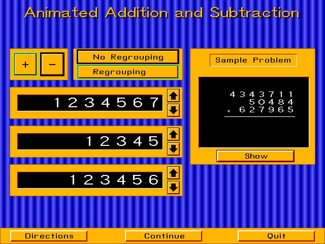 Animated Arithmetic