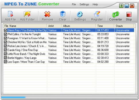Crystal MPEG To Zune Converter