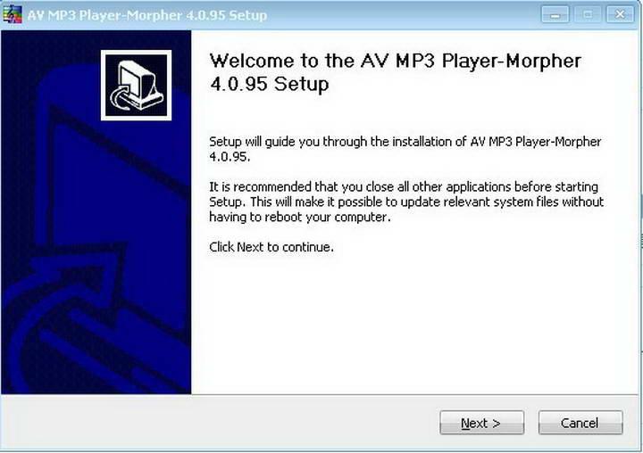AV MP3 Player - Morpher Basic