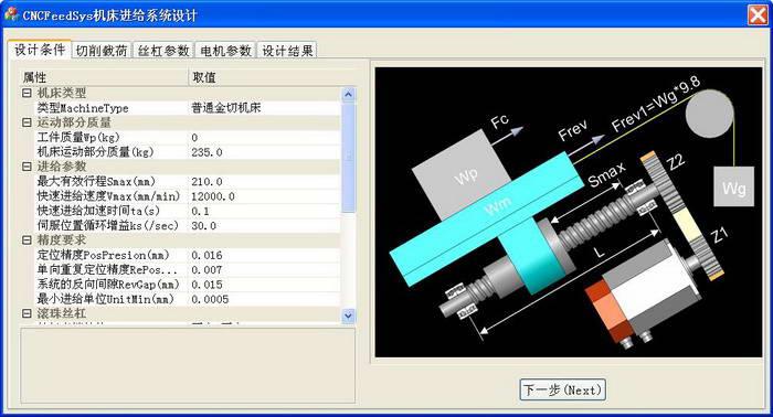 CNCFeedSys数控机床进给系统设计软件 1.21