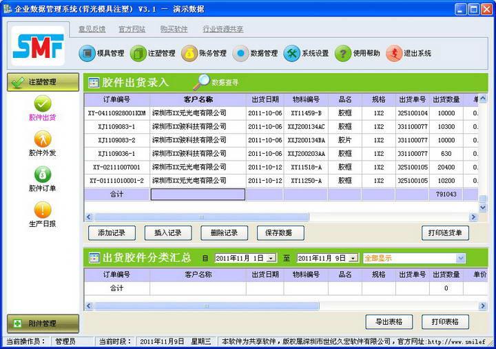 QCE背光源导光板模具注塑企业数据管理软件