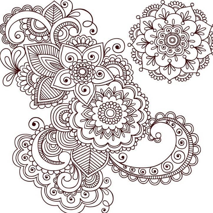 传统花纹装饰图案矢量图
