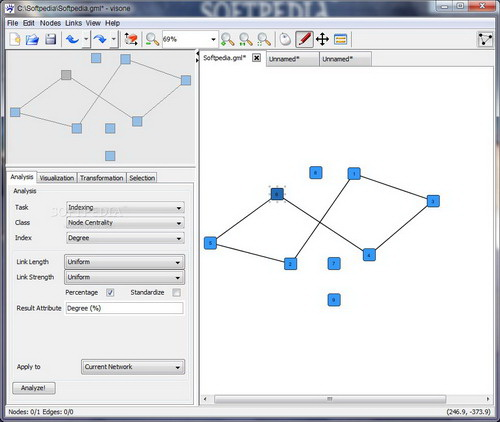 Visone 可视化社会网络分析软件