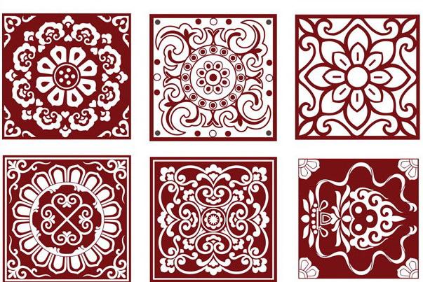 传统剪纸图案矢量图_传统剪纸图案矢量图模板