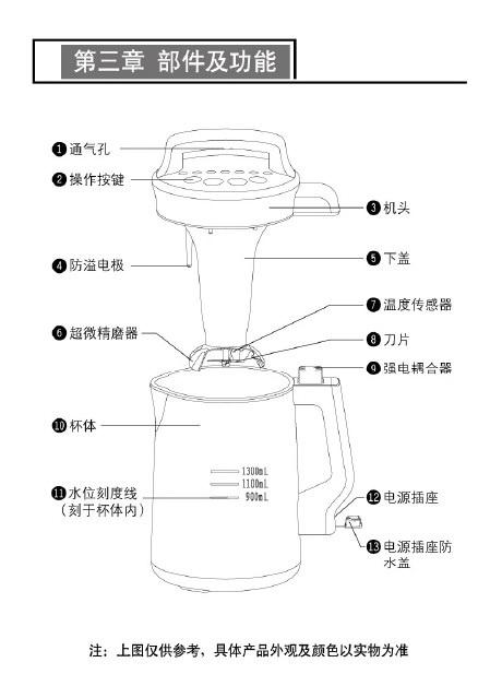 九阳DJ13B-D58SG豆浆机使用说明书